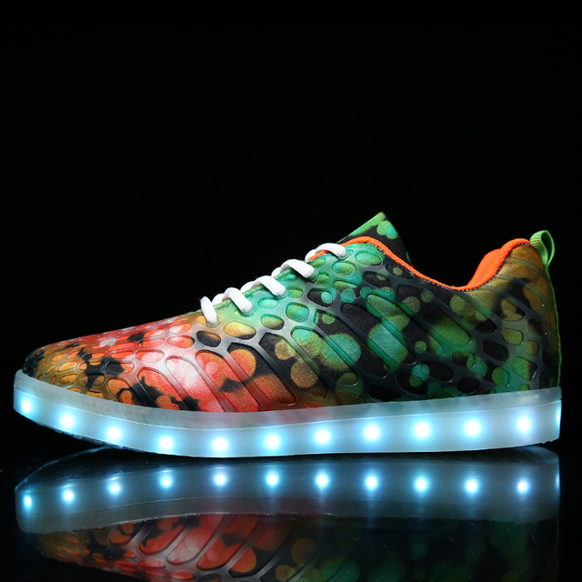 Led Shoes Light Men Day Mens Masculino Breathable Valentine's Tenis dIwxqB