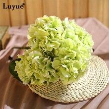 Luyue 5 cabeza Falsa Seda Artificial Hydrangea Ramo ramo Home Wedding Party Decor