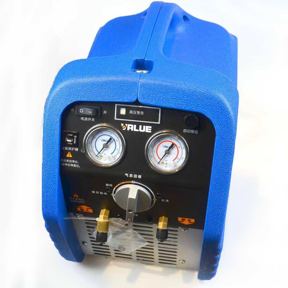 220V Gas Refrigerant Recycling Machine VRR24L Digital Manifold Refrigerant  Recovery Unit Air Conditioning Repair Tool Gauge