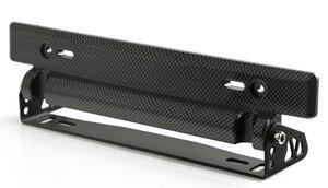 Relocator-Frame-Bracket-Holder Number License-Plate Carbon-Fiber Adjustable Racing by