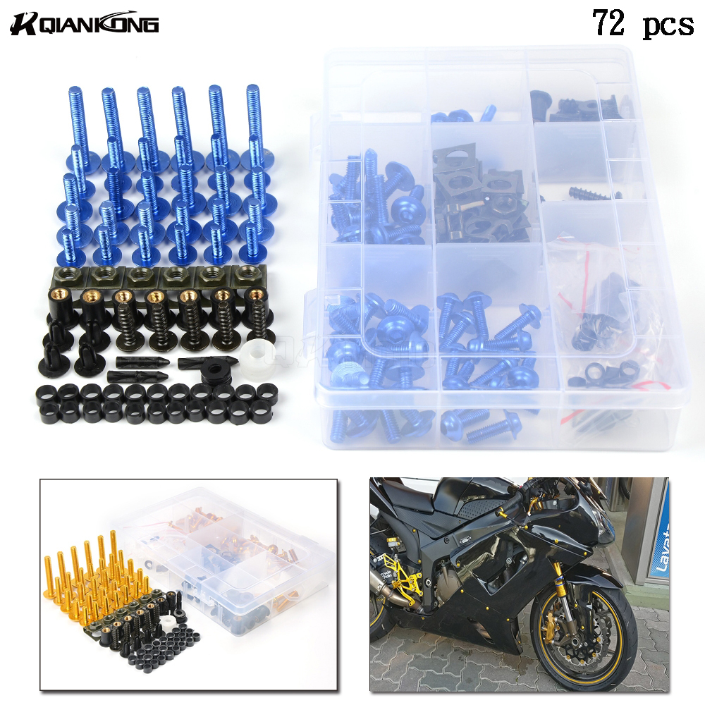 76 шт. универсальный мотоцикл болты обтекателя тела Spire винт гайки для SUZUKI gsx-r 250 600 750 1000 1100 GSX1250FA GSX 1400