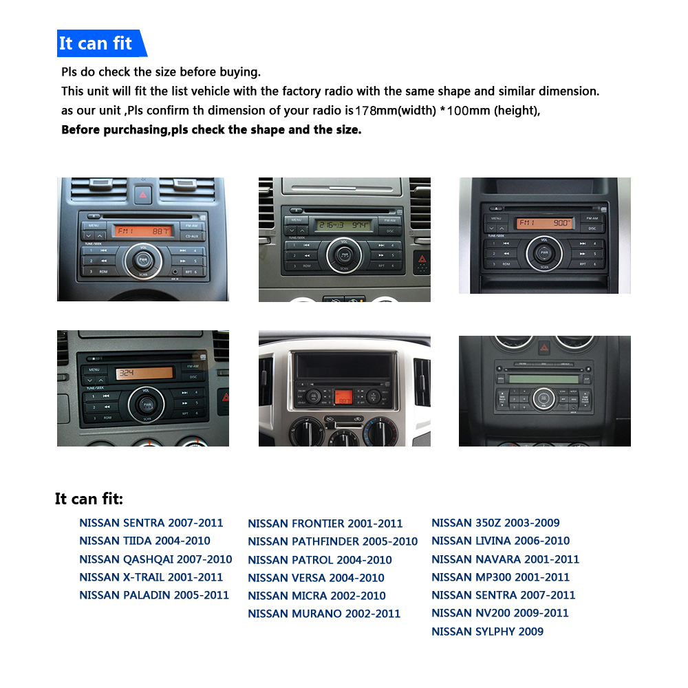 Best IPS 7 inch 2 Din Android 8.0 CarDvd Player Audio Stereo For Nissan Universal Gps Navigation Steering-Wheel Radio Recorder Wifi 2