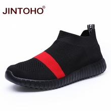JINTOHO Big Size Men Sneakers Slip On Black Casual Shoes Brand Men Loafers Cheap Male Sneakers Summer Male Shoes 2019 Men Shose