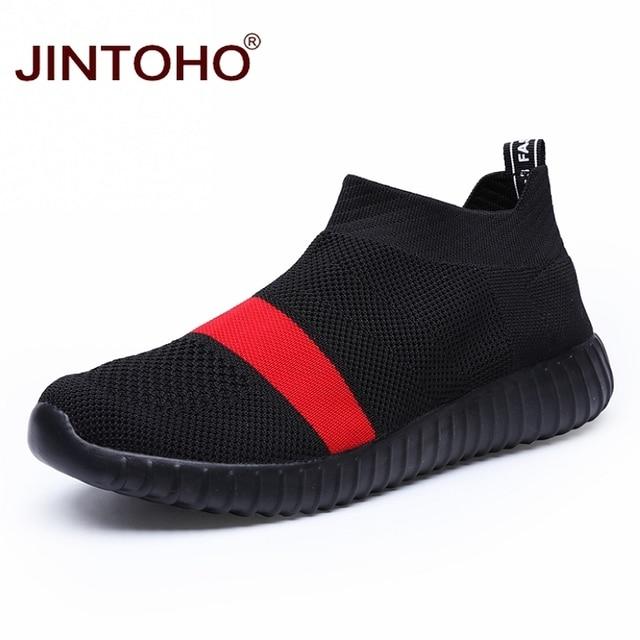 JINTOHO ขนาดใหญ่ผู้ชายรองเท้าผ้าใบสีดำรองเท้าผู้ชาย Loafers ราคาถูกชายรองเท้าผ้าใบฤดูร้อนชายรองเท้า 2019 ผู้ชาย Shose