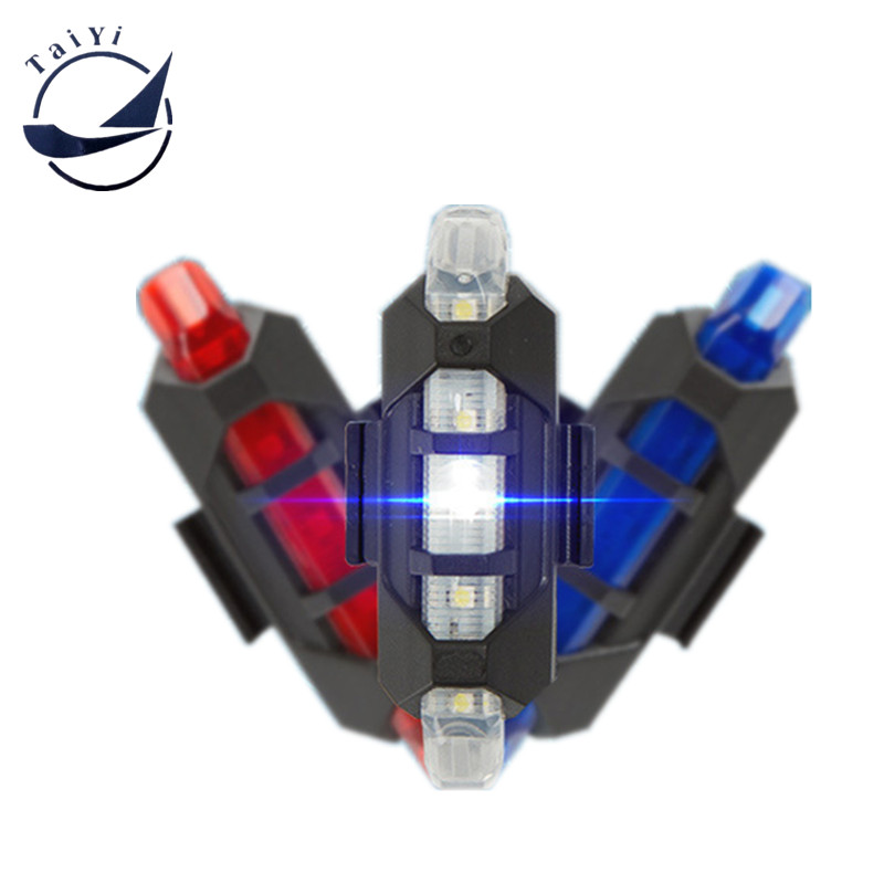 Fahrradrücklicht Rücklicht Sicherheitswarnung USB Wiederaufladbares Fahrradlicht Rücklicht Comet LED Fahrradlicht Rücklicht