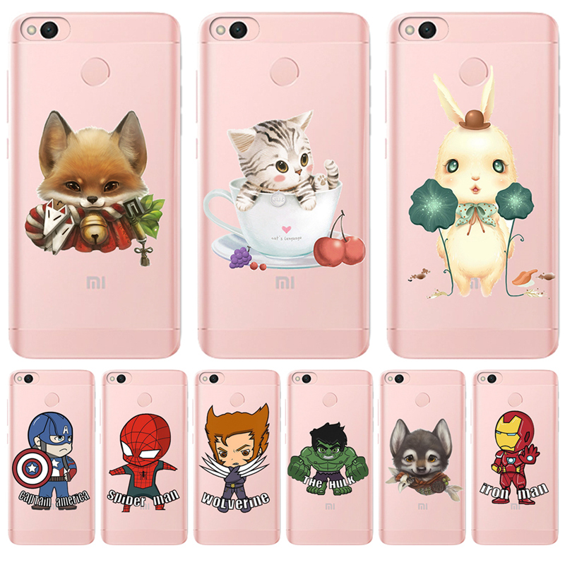 Marvel cartoon For <font><b>Xiaomi</b></font> Redmi <font><b>Mi</b></font> 3S Pro 4X 4A 5A 5 Plus Note 3 4 6 6A A1 5X A2 6X <font><b>Lite</b></font> <font><b>8</b></font> Pocophone F1 phone case cover Luxury image