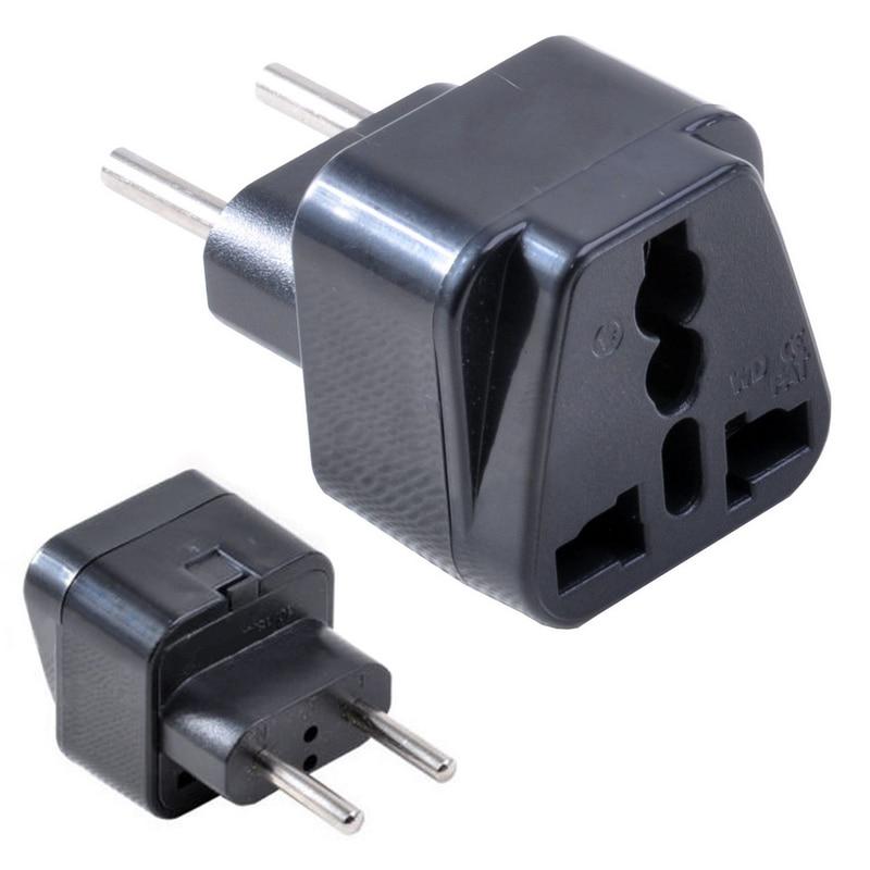 Mayitr 1pc 2 Pins Universal UK/US/EU/AU to EU Power Plug Professional Brasil Israel Europe Travel Power Adapter Plug