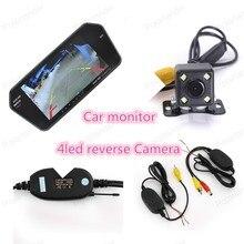 Камера автомобиля Монитор Автомобиля 4led ночного видения Камера Заднего Вида 7 «TFT Монитор Автомобиля