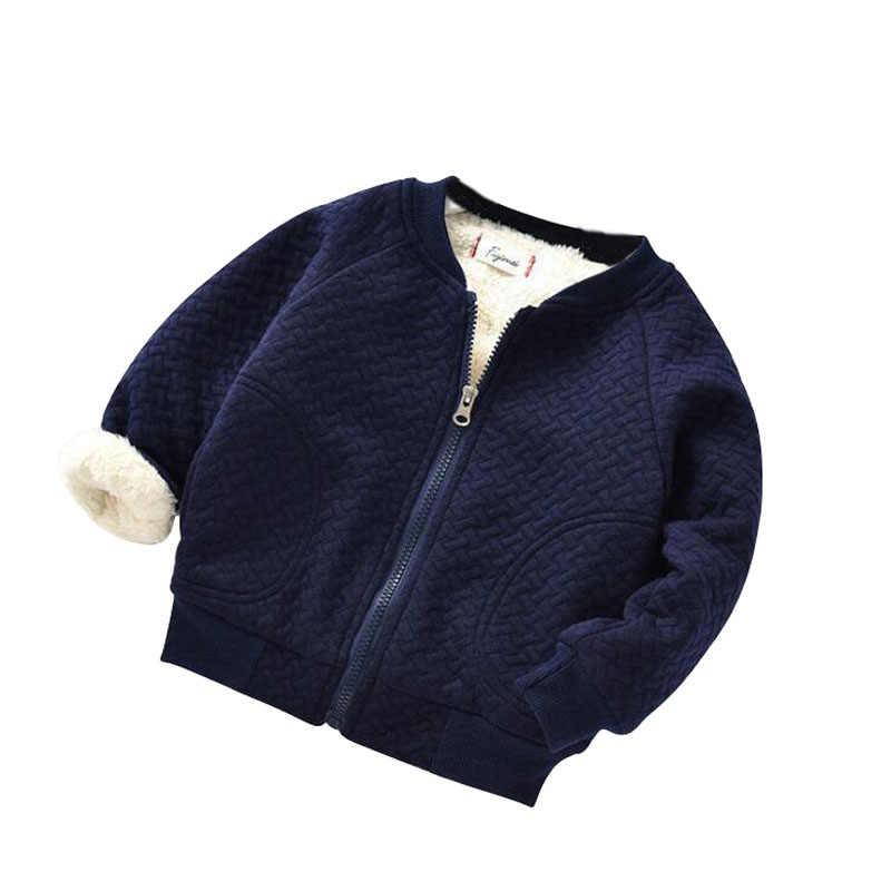 Осень-зима; жакет для маленьких девочек Пальто для мальчиков, куртка детские теплые бархатные пальто для девочек верхняя одежда и пальто Одежда для девочек