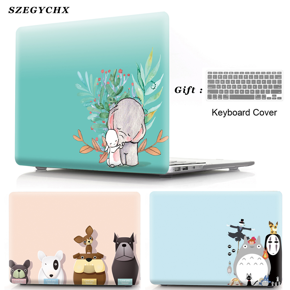 Laptop Case For MacBook New Air 13 A1932 2018 Shell For Mac Book Air Pro Retina 11 12 13 15 Touch Bar + Keyboard Cover