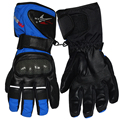 Leather Gloves Motorbike Motorcycle Gloves Winter Waterproof Windproof Protective gear Sports Racing Moto Gloves luvas Mittens