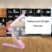 Touch Sensitive Control Brightness Calendar Clock Book Lights LED Folding Table Lamp Battery Power Super Brightness Desk Lamp