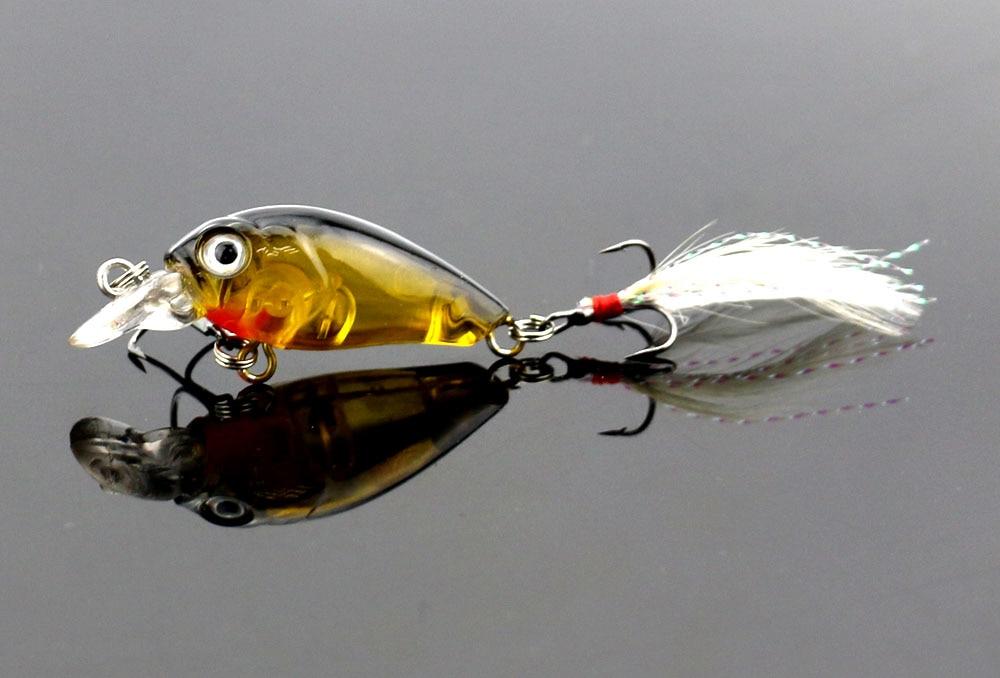 Hengjia crankbait esche da pesca 45 MM / 4G plastica duro manovella - Pesca - Fotografia 5