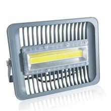 Luz LED COB de inundación 30W 50W 100W IP65 AC 220V inteligente IC COB proyector exterior lámpara de pared blanco frío blanco cálido Barco de CN ES RU
