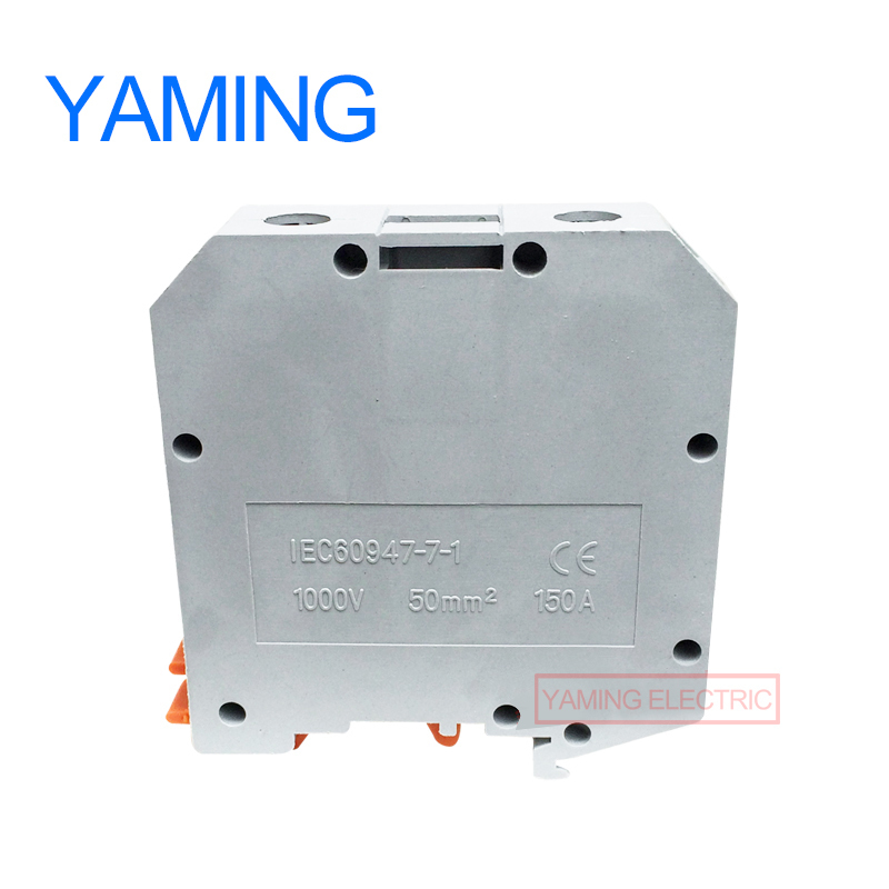 Image 2 - 5PCS UKH 50N(UK 50N) 50mm2 150A 1000V Connection Terminal Block Electric Current Row Lug Plate Splice Cable ConnectorTerminals   -