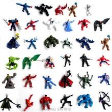 10pcs The Avengers Superheroes Manga PVC Action Figures Spider man Miniatures Anime Figurines Dolls Kids Toys For Boys Girls