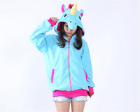New Fashion Cartoon Unicorn Tenma Sweatshirts Hoodies Girl Hooded Jacket Coat For Women Female Cosplay Costumes