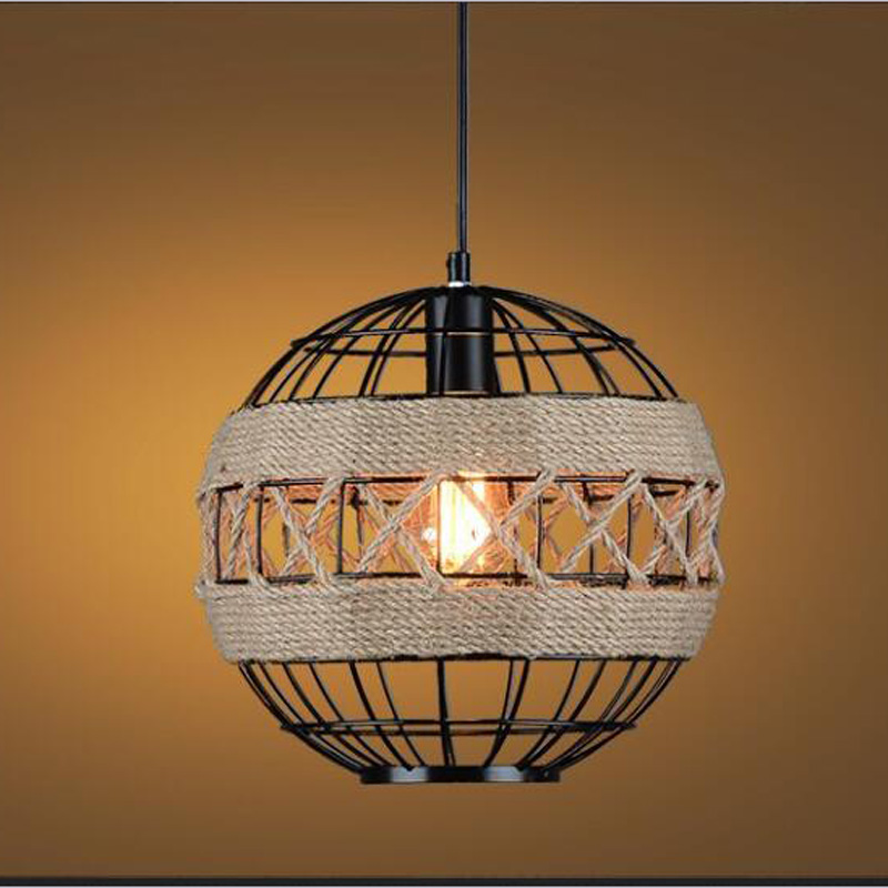 American country creative personality rope pendant light industrial wind Bar Cafe Cafe Restaurant retro Pendant lamp ya7271 american country iron rope pendant lights loft creative personality retro restaurant bar cafe bar 1 3head pendant lamp za gy266