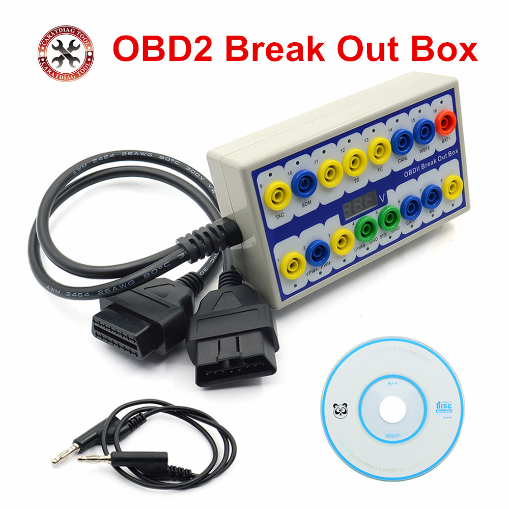 2019 New Auto car Break out Box OBDII obd Breakout Box Car Protocol Detector car obd2 interface car monitor with Pin Out Box-in Car Diagnostic Cables & Connectors from Automobiles & Motorcycles