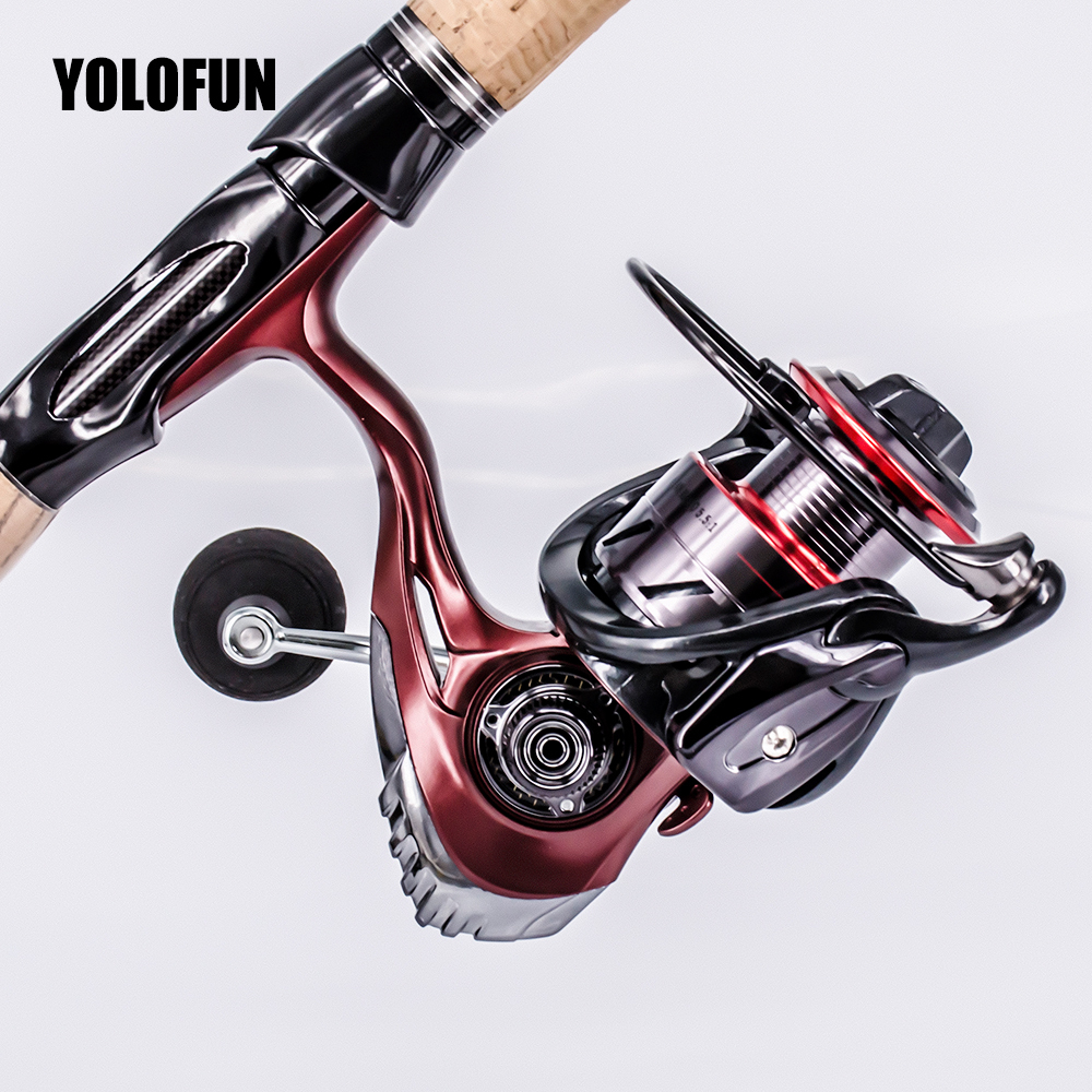 5.5:1 Spinning Fishing Reel 13+1BB CNC Spool Carretilha Metal Coil Spinning Reel Boat Rock Carp Fishing Wheel Pesca