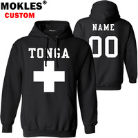 TONGA pullover logo custom name number autumn winter to jersey keep warm hat ton flag kingdom nation country pure black clothing