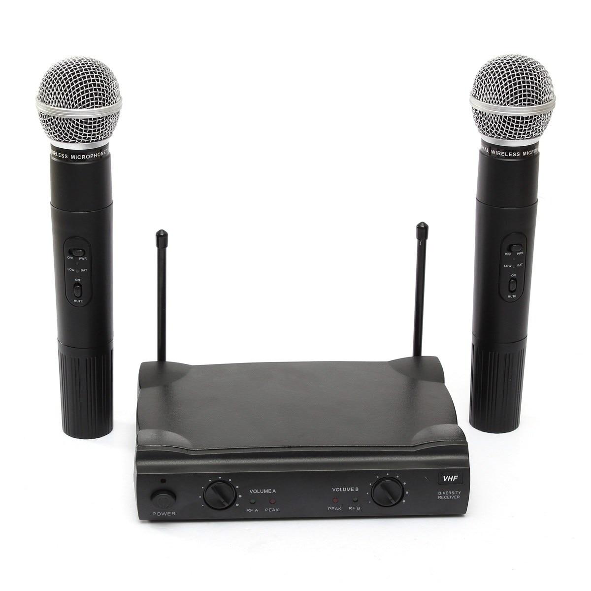 LEORY système de Microphone sans fil karaoké professionnel avec connecteur et récepteur Microphone à condensateur double micro pour le chant KTV - 2