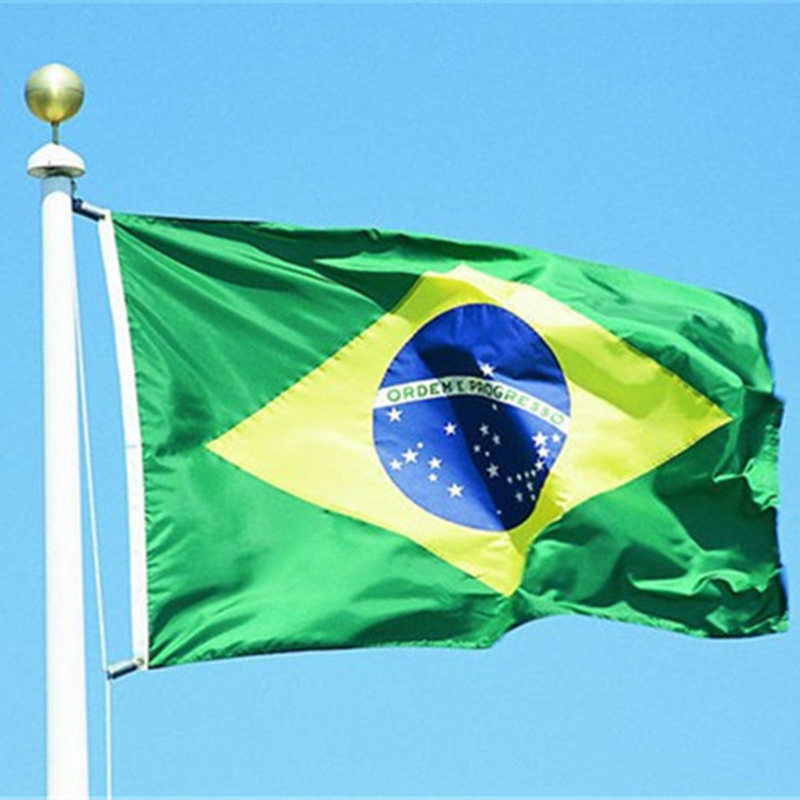 Free shipping Brazil Flag 3 x 5 feet  90 150 cm banners. Brazilian flag banner .