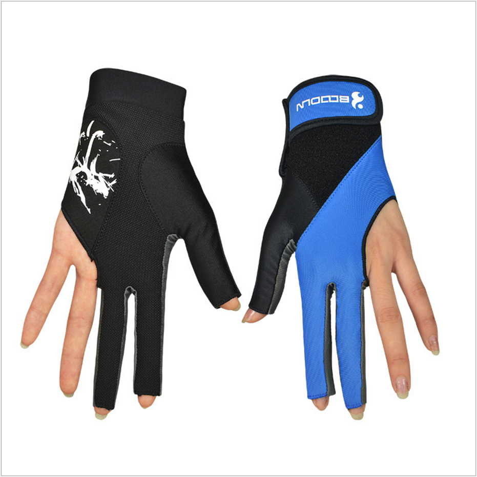 1 Piece Boodun Billiard Pool Shooters 3 Fingers Left Hands font b Gloves b font Lycra
