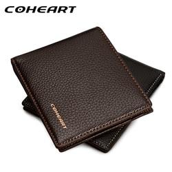 Coheart carteira bolsa de couro masculino promoção de produto novo!!! Qualidade superior marca carteira masculina bolsa de couro prático carteira!!