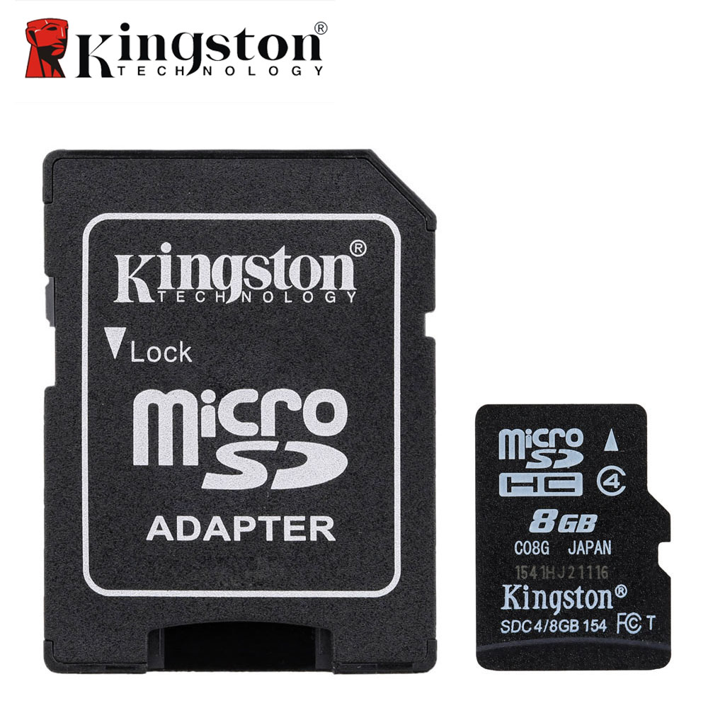 kingston class 4 8gb micro sd card memory card 8 gb microsd cartao de memoria tarjeta micro sd. Black Bedroom Furniture Sets. Home Design Ideas
