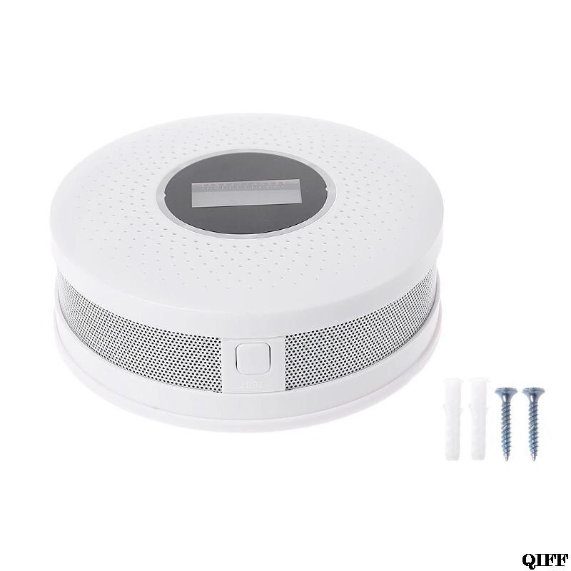 Gas Analysatoren Drop Schiff & Großhandel 2in1 Co Rauchmelder Lcd Display Kohlenmonoxid-alarm Led Licht Sound Warnung Apr29