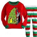 Ropa para niños Set Niños Pijama Conjunto de Dibujos Animados de Navidad Niños ropa de Dormir 2-7 Años Los Niños Pijamas Bebé Infantil Pijama Traje