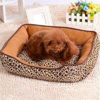 최고 품질의 개 침대 집 소파 매트 표범 인쇄 애완 동물 매트 사육 미끄럼