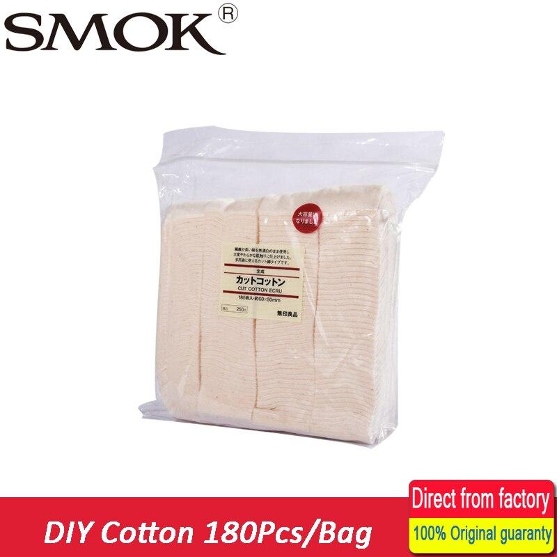 180 Pz/borsa Cotone Biologico Per Rda Rba Atomizzatore Coil Wick No Candeggina Sano Giapponese Sigaretta Elettronica Cotone Vapore Enorme