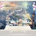 NeoBack Cartoon conte de fées monde Peter Pan Wendy avec ses frères arrière plan nuit ville toile de fond pour Studio de cabine Photo|Fond| |  -