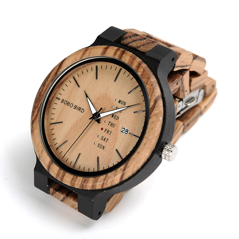 O26-BOBO BIRD Fashion Wooden Calendar watch (2)