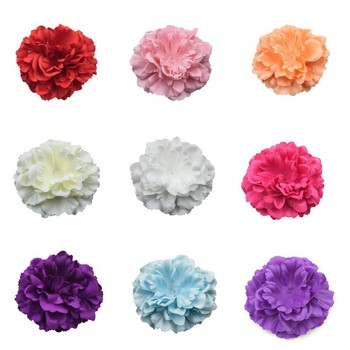 (120pcs/lot) Newborn Chic Peony Flower For Baby DIY Hair Accessories 12CM Artificial Fabric Flowers Girls Headwear
