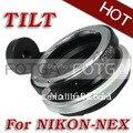 FOTGA Наклона Переходное Кольцо Для Nikon Объектив к Sony Адаптер для Nex3 Nex5 NEX7 NEX5N латуни оптовая предложение oem