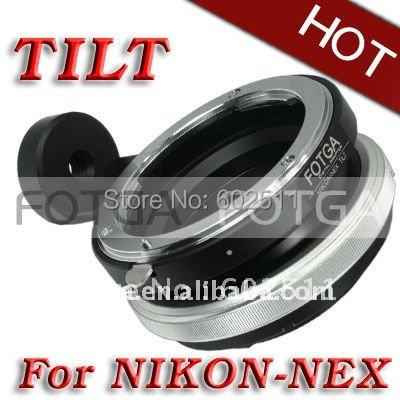 FOTGA Tilt Adapter Ring For Nikon Lens to Sony Adapter for Nex3 Nex5 NEX7 NEX5N brass wholesale offer oem fotga nikon ai lens to sony nex mount adapter black