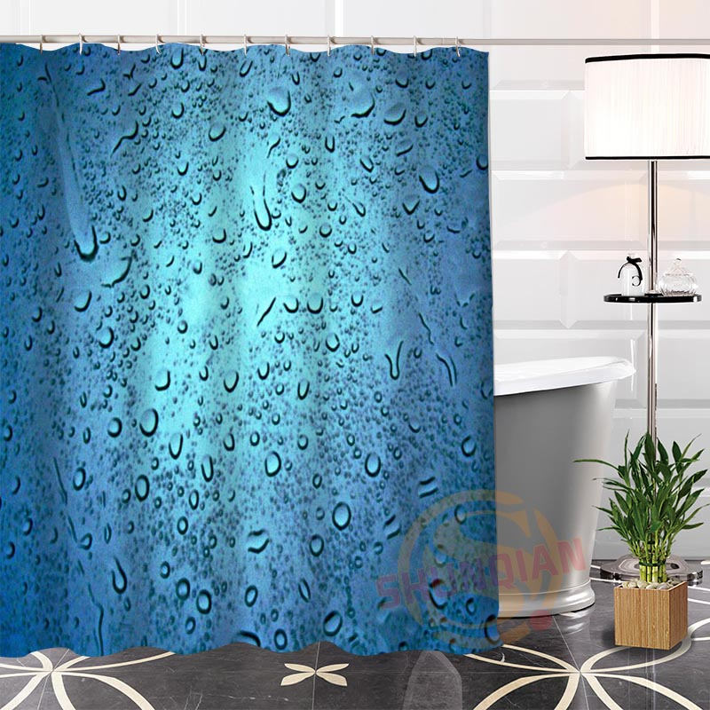 Custom Raindrop Fabric Shower Curtain Bathroom With Hooks High Quality Popular Modern 100 Polyester In Curtains From Home Garden On