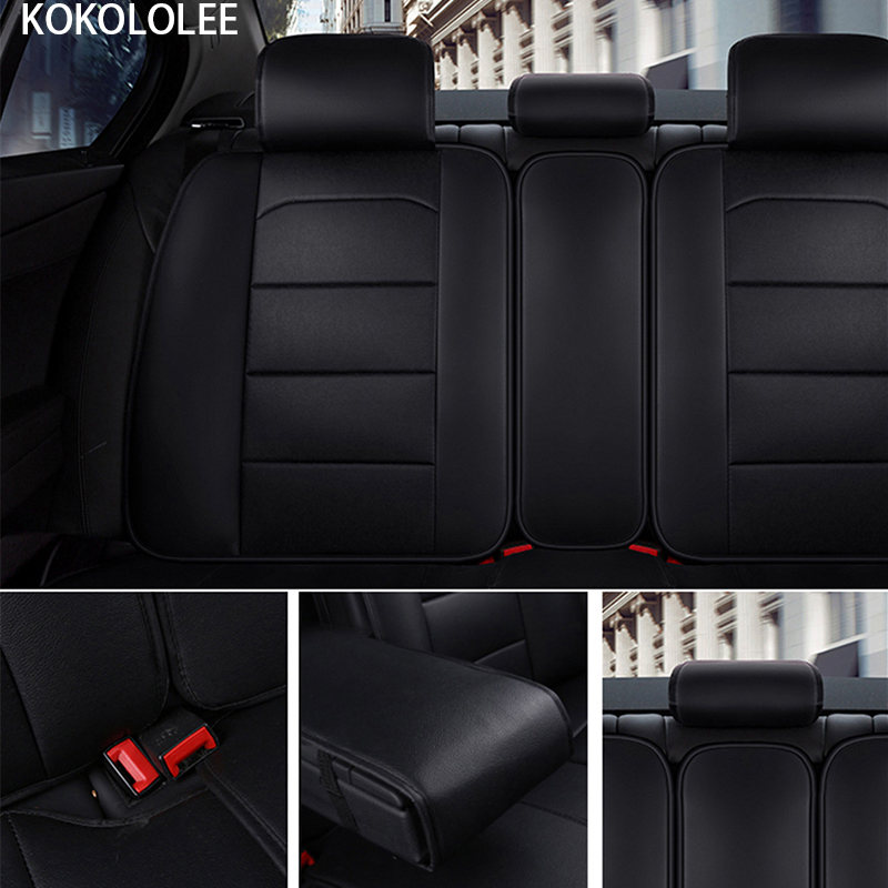 [KOKOLOLEE] pu leather Car seat Covers for KIA All Models Rio K2/3/4 Cerato Sportage cars cushion auto accessories car styling - 6