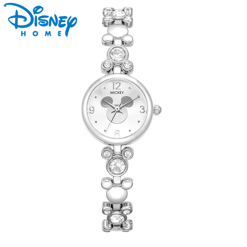 Disney Watch Women 2017 Silver Luxury Brand Fashion Rose Gold Quartz Watches Mickey Mouse Rhinestones Stainless Steel Wristwatch kezzi famous brand women watches fashion silver rose gold women s bracelet watch quartz stainless steel wristwatch lady clocks