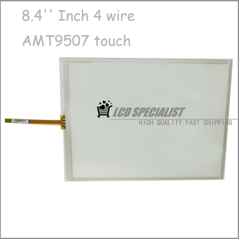 ФОТО New 8.4'' Inch 4 Wires AMT9507 AMT 9507 Touch Screen Panel Digitizer Glass Sensor Replacement