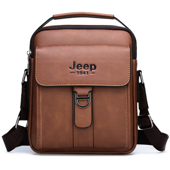 Luxury Brand JEEP Bag Men Vintage Shoulder Bag For Man Leather Messenger Bag Casual Crossbody Bag Male Business Handbag For IPAD