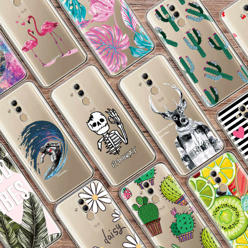 Soft TPU Case For Huawei Mate 20 10 P30 P20 Lite P Smart Plus 2019 Transparent Pattern Case For Huawei P30 P20 Mate 20 10 Pro