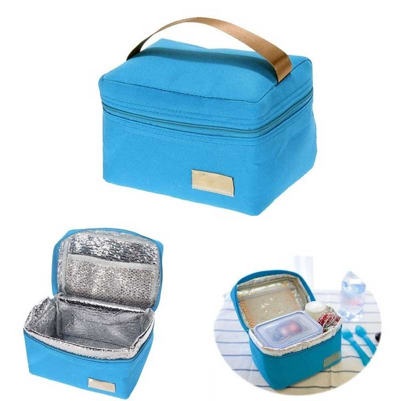 Travel Oxford Tinfoil Insulated Cooler Thermal Picnic Lunch Bag Waterproof Tote Lunch Bag 2017ing