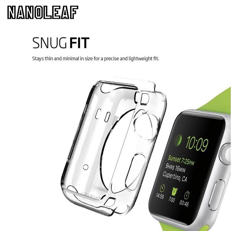20 шт./лот прозрачный мягкий и тонкий чехол для iwatch 38 мм 42 мм Пластик мягкий чехол для Apple Watch Series 1/2/3 защитную крышку