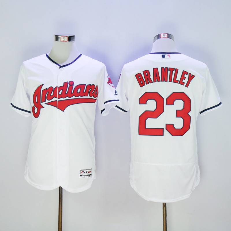 Mens Cleveland Indians Michael Brantley Flexbase Fully Stitched Baseball Jersey
