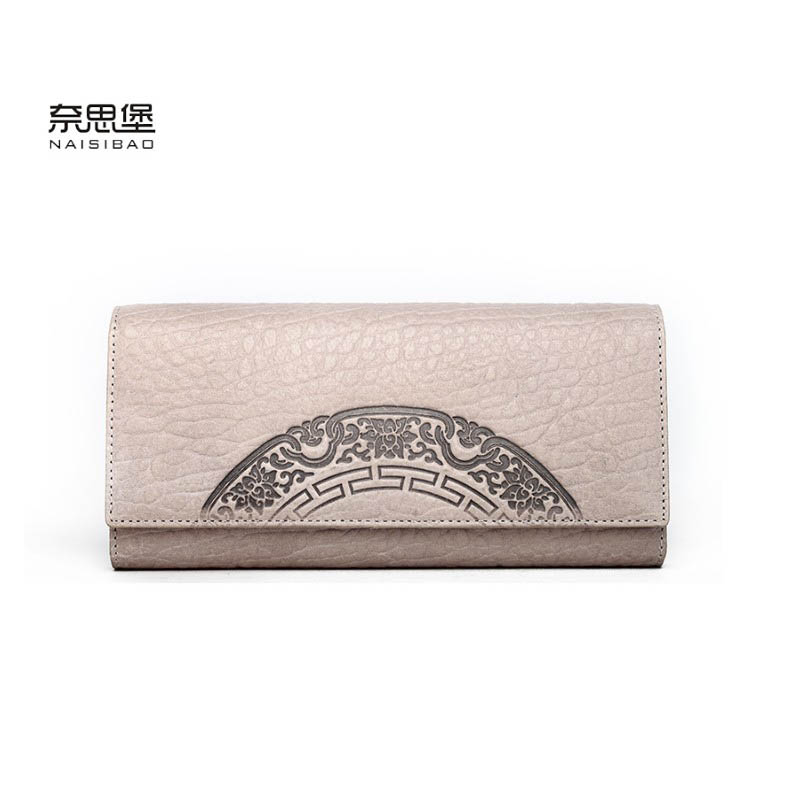 2017 New Women genuine leather wallet brands fashion women zipper purse quality leather embossing long wallets luxury clutch bag hot sale women wallets fashion genuine leather women wallet knitting zipper women s wallet long women clutch purse