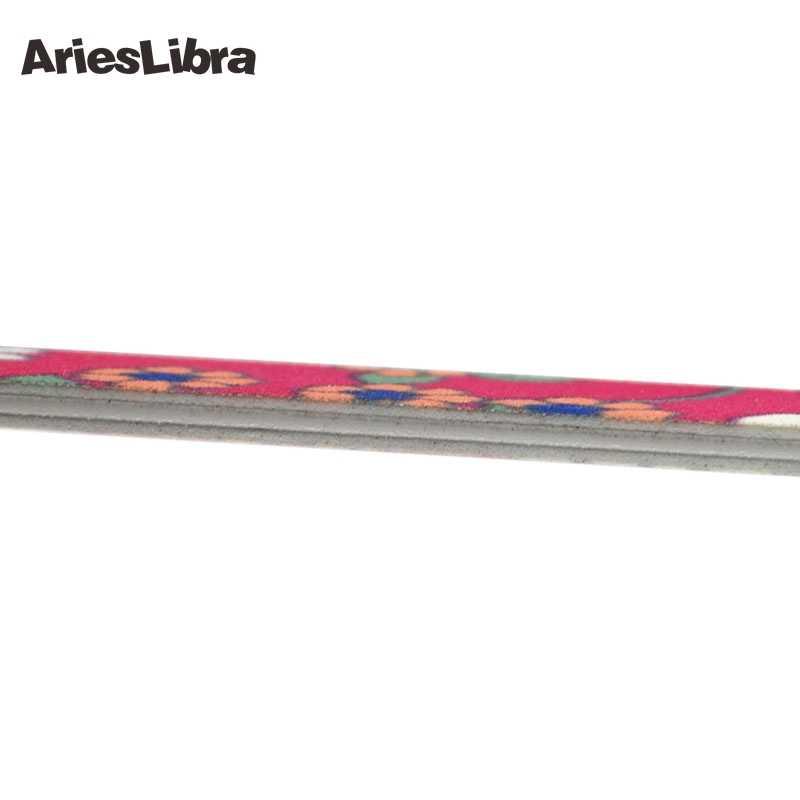 AriesLibra 1 adet 2 taraflı güneş çiçek desen tırnak sanat akrilik lehçe eziyet kum dosya bloğu tampon UV jel parlatıcı tırnak dosyaları